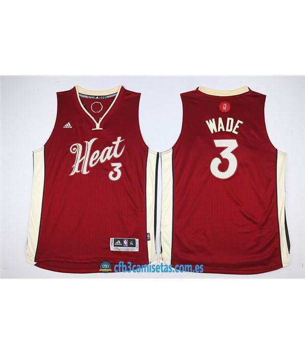 CFB3-Camisetas Dwyane Wade Miami HeatNIÑOS