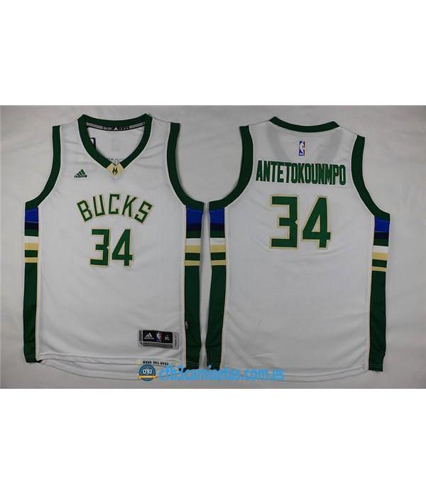 CFB3-Camisetas Giannis Antetokounmpo Milwaukee Buc...