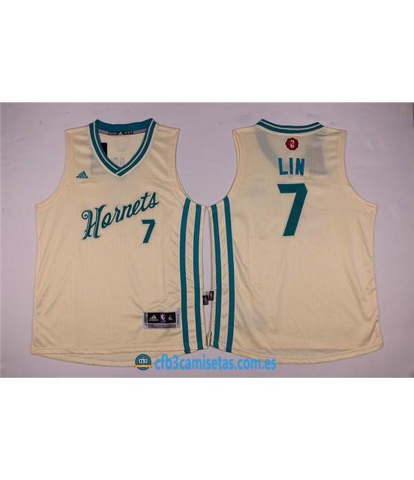 CFB3-Camisetas Jeremy Lin Charlotte HornetsNIÑOS