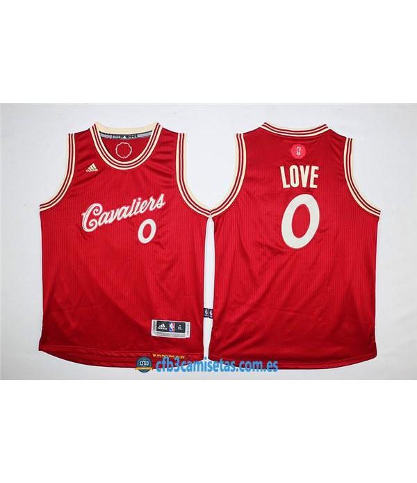 CFB3-Camisetas Kevin Love Roja Blanca Cleveland Ca...