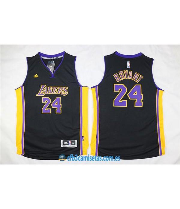 CFB3-Camisetas Kobe Bryant 24 LA Lakers NegraNIÑO...
