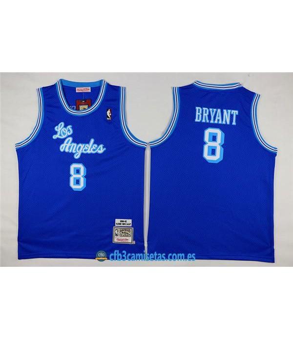 CFB3-Camisetas Kobe Bryant 8 Lakers Azul NIÑOS