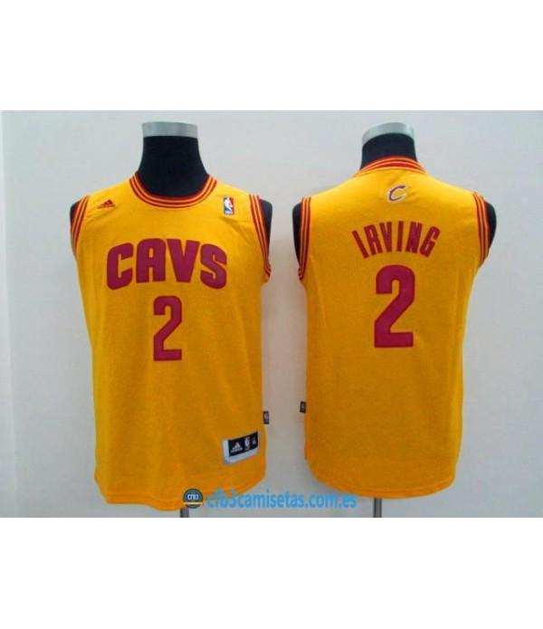 CFB3-Camisetas Kyrie Irving Amarilla Cleveland Cav...