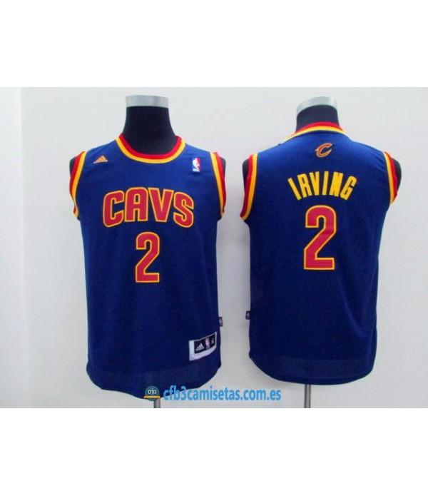 CFB3-Camisetas Kyrie Irving Azul Cleveland Cavalie...