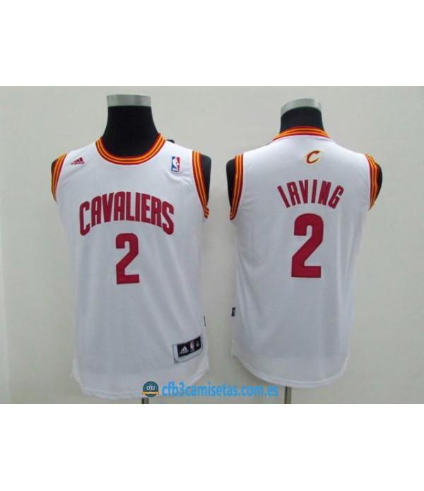 CFB3-Camisetas Kyrie Irving Blanca Cleveland Caval...