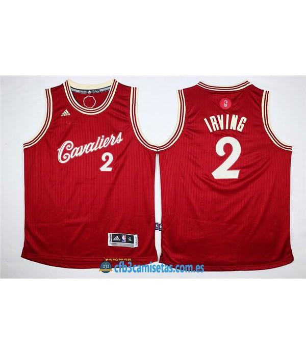 CFB3-Camisetas Kyrie Irving Roja Blanca Cleveland CavaliersNIÑOS