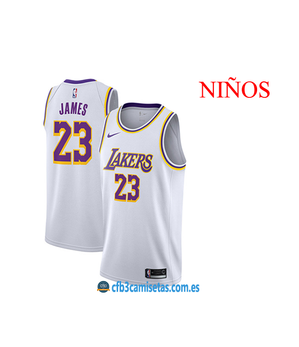 CFB3-Camisetas LeBron James LA Lakers Association ...