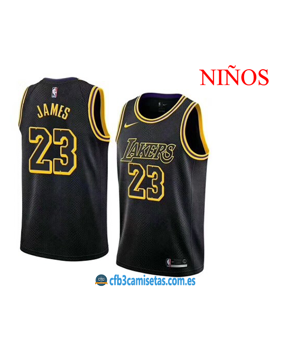 CFB3-Camisetas LeBron James LA Lakers City Edition NIÑOS