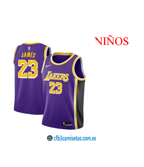 CFB3-Camisetas LeBron James LA Lakers Statement 20...