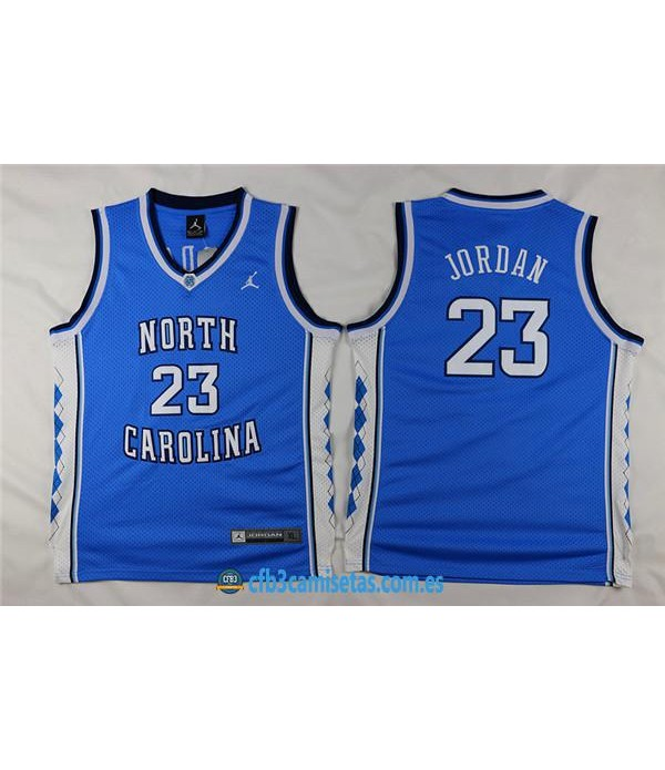 CFB3-Camisetas Michael Jordan North California AzulNIÑOS