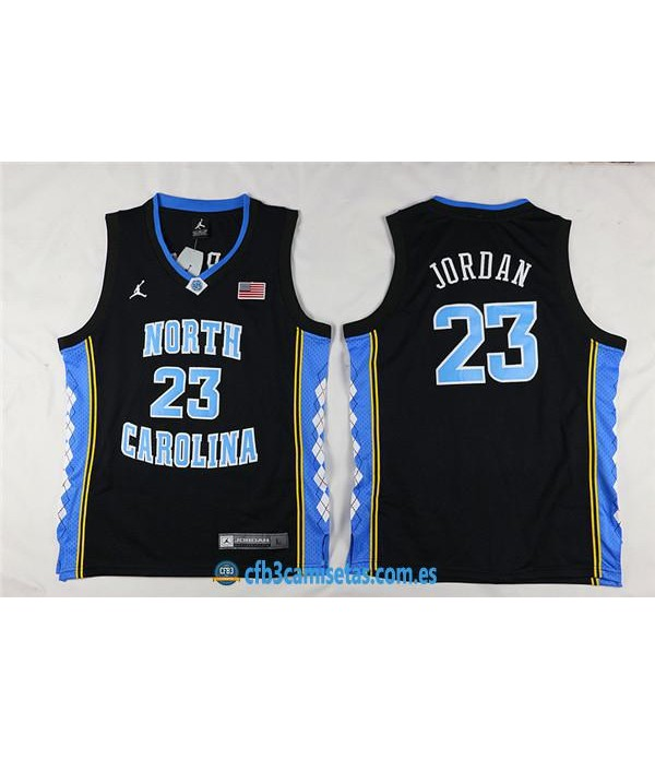 CFB3-Camisetas Michael Jordan North California NegraNIÑOS