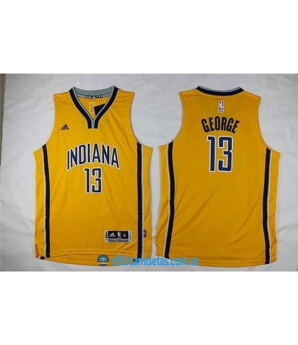 CFB3-Camisetas Paul George Indiana Pacers AmarillaNIÑOS