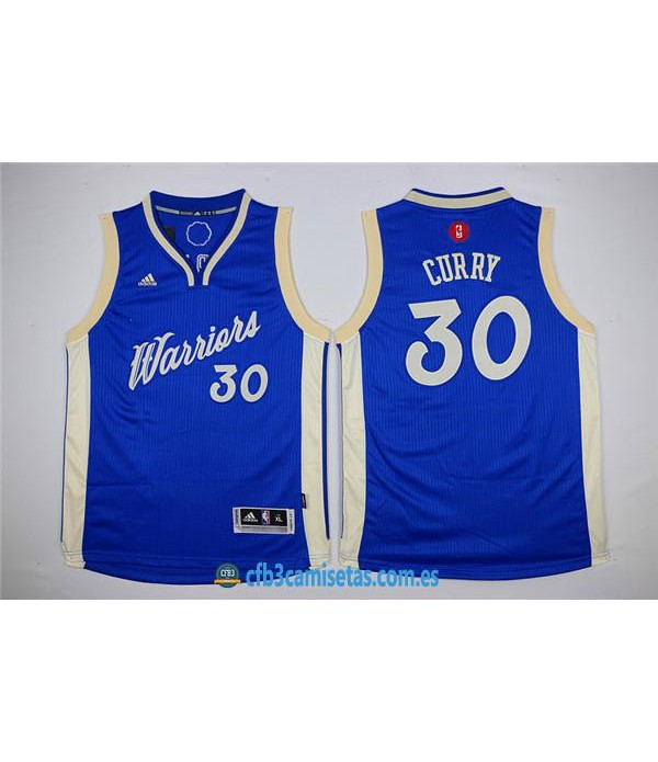 CFB3-Camisetas Stephen Curry Golden State Warriors Azul BlancaNIÑOS