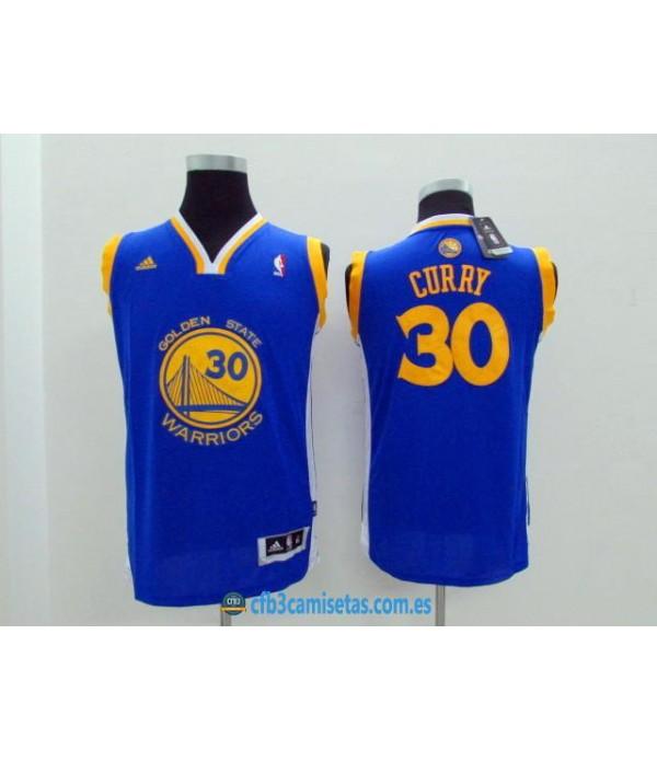 CFB3-Camisetas Stephen Curry Golden State Warriors AzulNIÑOS