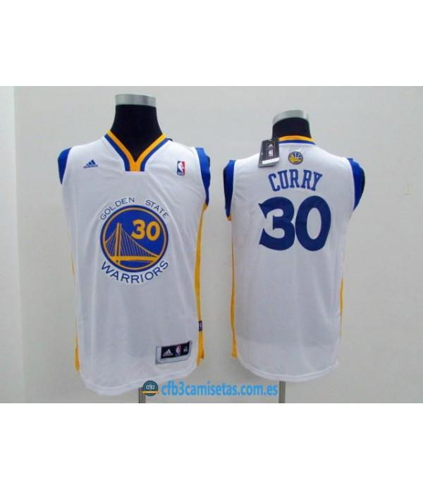 CFB3-Camisetas Stephen Curry Golden State WarriorsBlancaNIÑOS