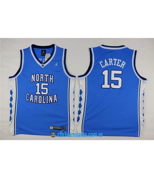 CFB3-Camisetas Vince Carter North California AzulNIÑOS