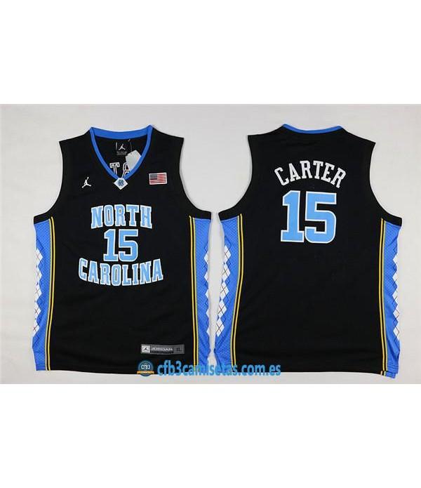 CFB3-Camisetas Vince Carter North California NegraNIÑOS
