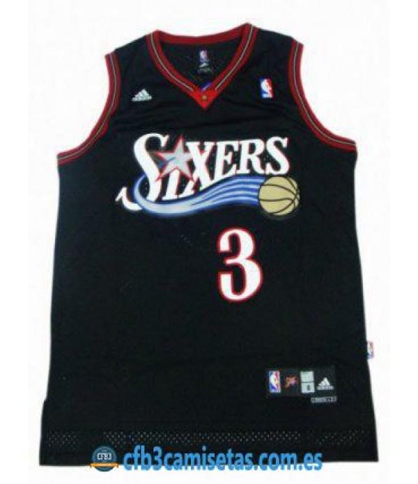 CFB3-Camisetas Allen Iverson Philadelphia 76ers Ne...