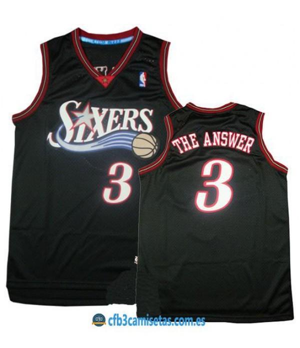 CFB3-Camisetas Allen Iverson The Answer Philadelphia 76ers
