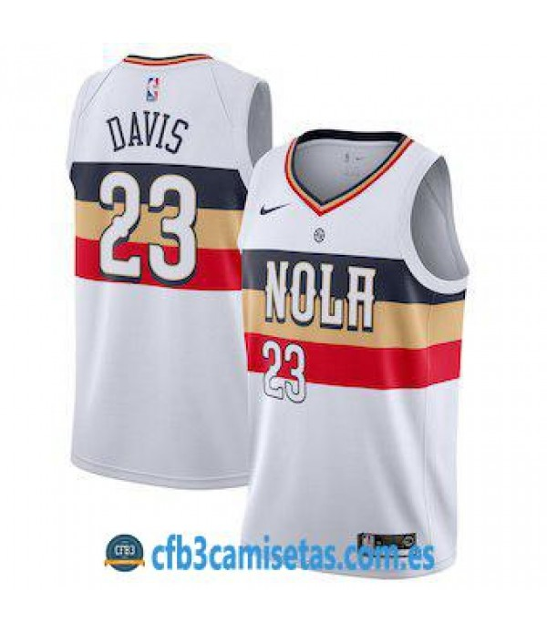 CFB3-Camisetas Anthony Davis New Orleans Pelicans 2018 2019 Earned Edition
