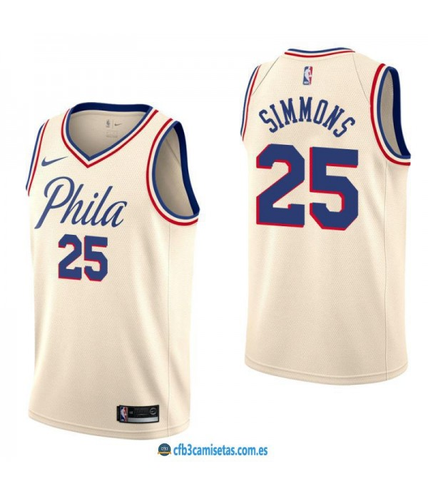 CFB3-Camisetas Ben Simmons Philadelphia 76ers City...