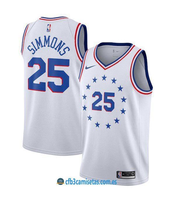 CFB3-Camisetas Ben Simmons Philadelphia 76ers Earn...