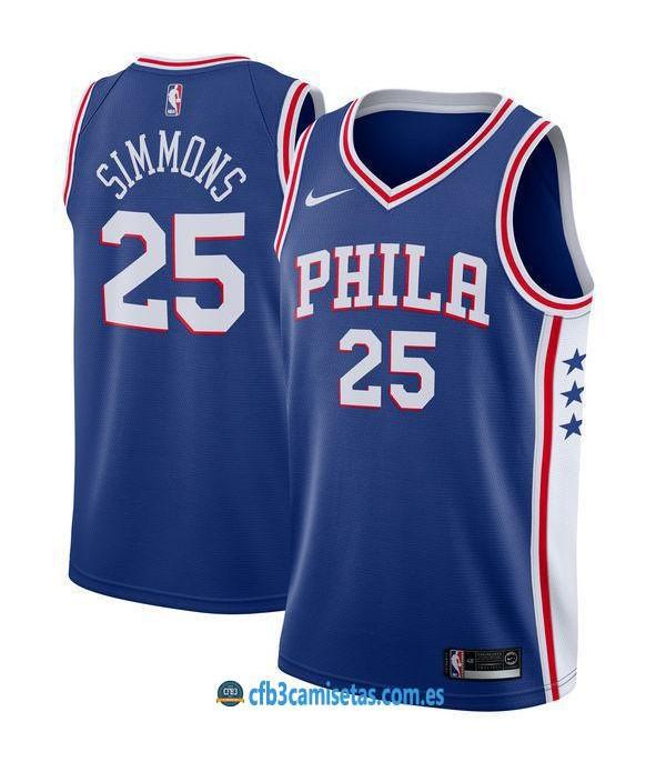 CFB3-Camisetas Ben Simmons Philadelphia 76ers Icon