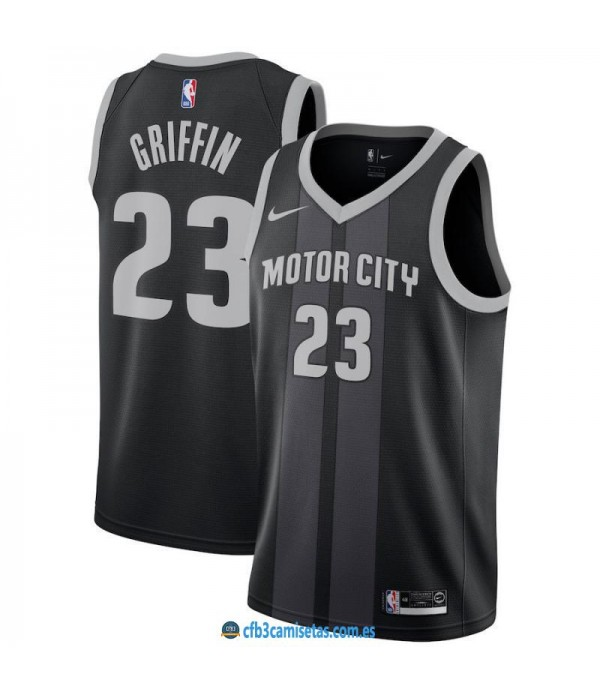 CFB3-Camisetas Blake Griffin Detroit Pistons 2018 2019 City Edition