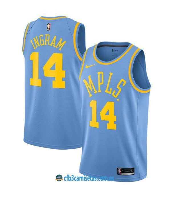 CFB3-Camisetas Brandon Ingram Los Angeles Lakers M...