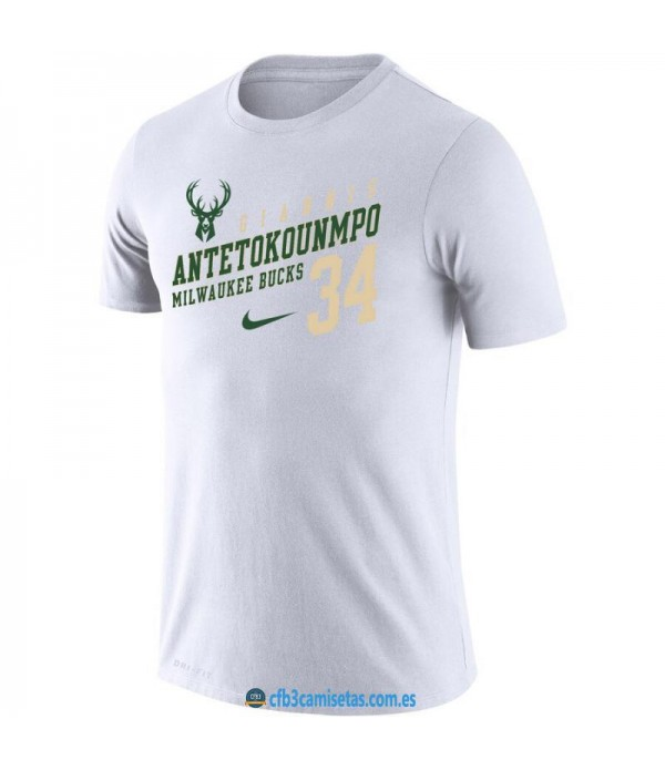 CFB3-Camisetas Camiseta Milwaukee Bucks Giannis An...