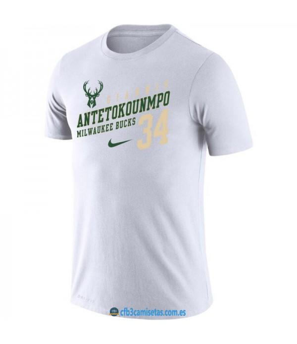 CFB3-Camisetas Camiseta Milwaukee Bucks Giannis Antetokounmpo
