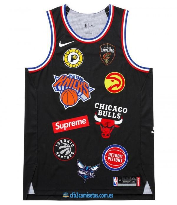 CFB3-Camisetas Camiseta Supreme x Nike x NBA