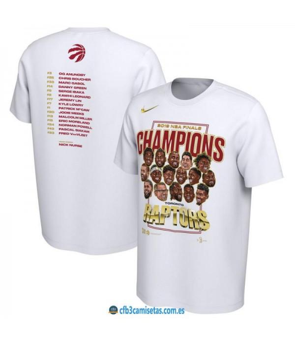 CFB3-Camisetas Camiseta Toronto Raptors 2019 NBA C...