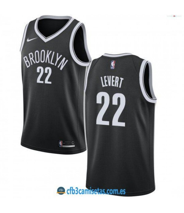 CFB3-Camisetas Caris LeVert Brooklyn Nets 2018 2019 Icon