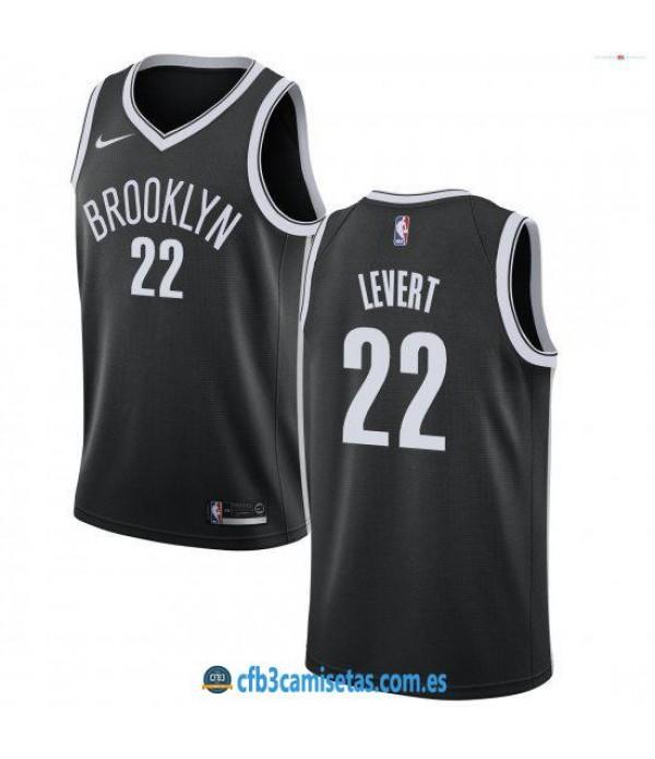 CFB3-Camisetas Caris LeVert Brooklyn Nets 2018 2019 Icon