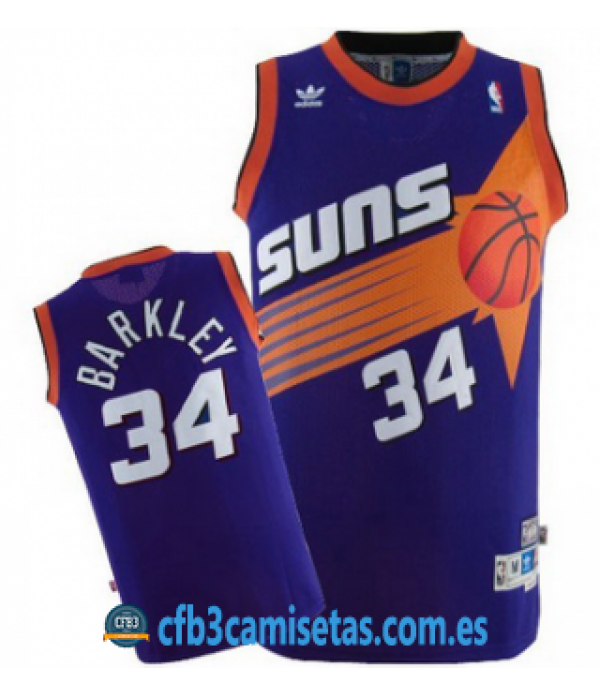 CFB3-Camisetas Charles Barkley Phoenix Suns Morada