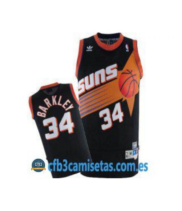 CFB3-Camisetas Charles Barkley Phoenix Suns Negra