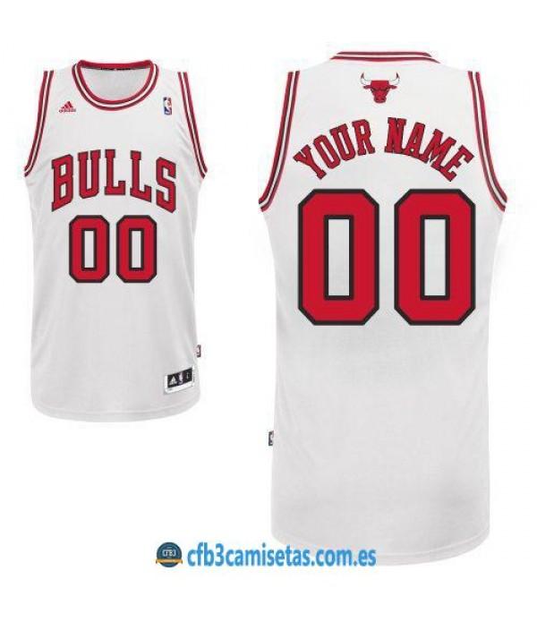 CFB3-Camisetas Chicago Bulls Home PERSONALIZABLE