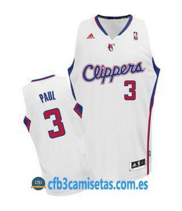CFB3-Camisetas Chris Paul Los Angeles Clippers Bla...