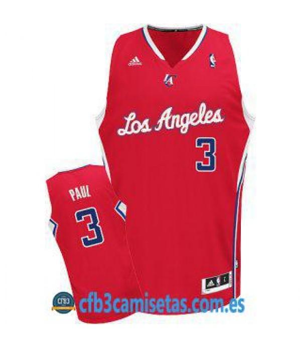CFB3-Camisetas Chris Paul Los Angeles Clippers Roja