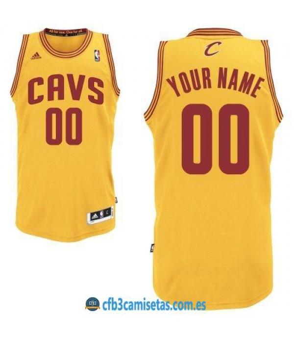 CFB3-Camisetas Cleveland Cavaliers gold PERSONALIZ...