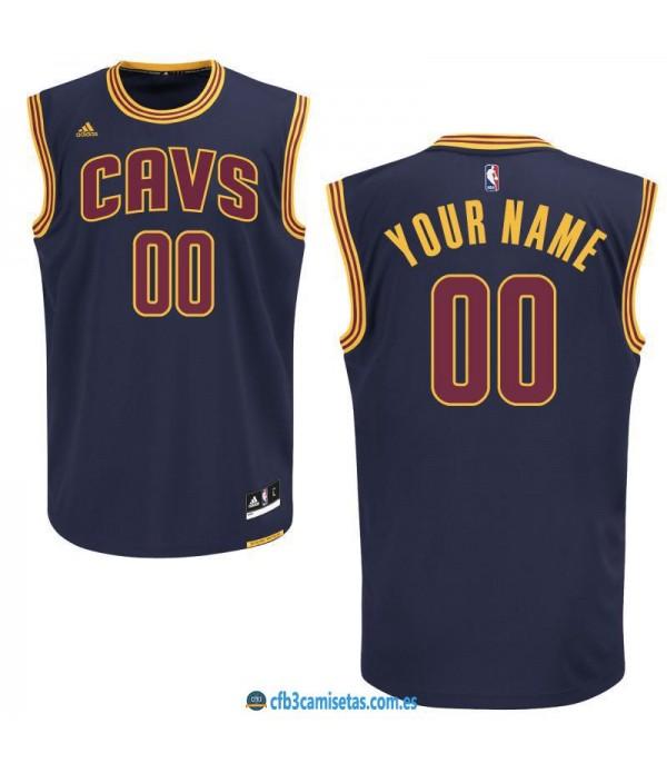 CFB3-Camisetas Cleveland Cavaliers Navy PERSONALIZ...