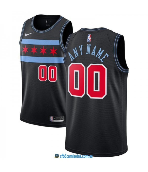 CFB3-Camisetas Custom Chicago Bulls 2018 2019 City...