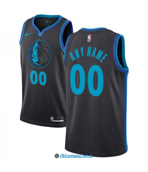 CFB3-Camisetas Custom Dallas Mavericks 2018 2019 C...