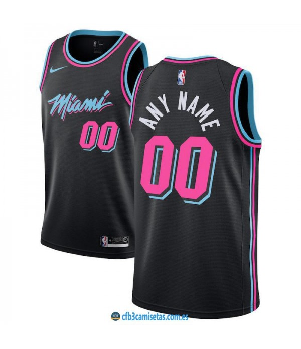 CFB3-Camisetas Custom Miami Heat 2018 2019 2018 2019 City Edition