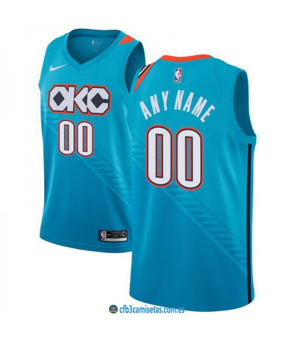 CFB3-Camisetas Custom Oklahoma City Thunder 2018 2019 City Edition