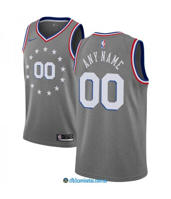 CFB3-Camisetas Custom Philadelphia 76ers 2018 2019 City Edition