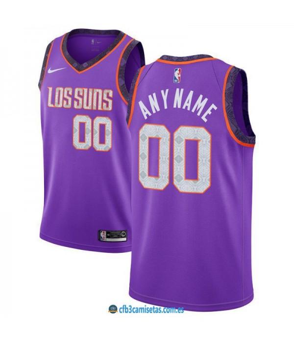 CFB3-Camisetas Custom Phoenix Suns 2018 2019 City Edition