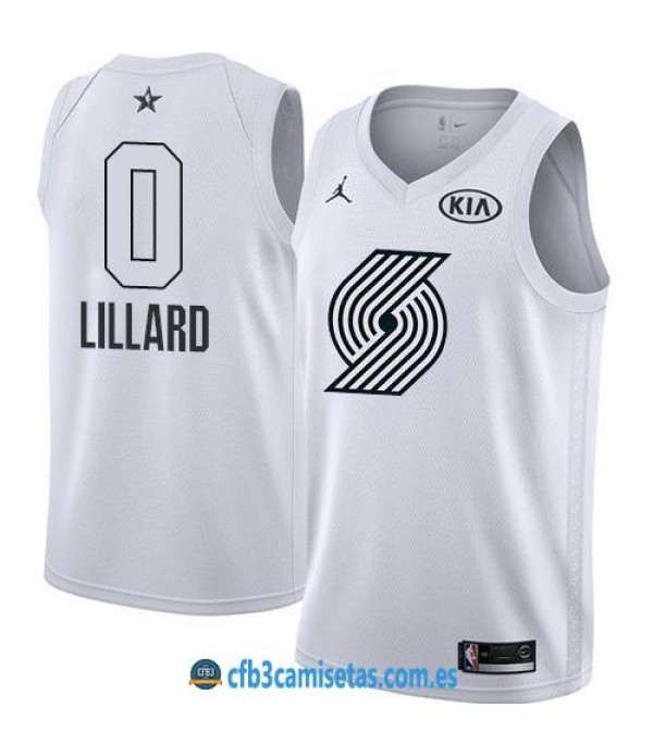 CFB3-Camisetas Damian Lillard 2018 All Star White