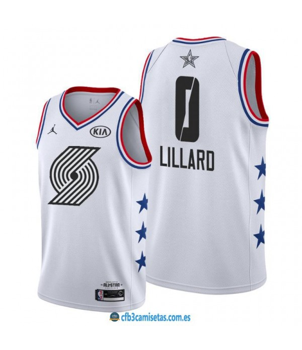 CFB3-Camisetas Damian Lillard 2019 All Star White